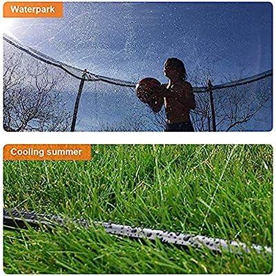 Trampoline Sprinkler, Outdoor Water Play Sprinklers for Kids , Trampoline Waterpark Heavy Duty Sprinkler Hose- Fun Summer Outdoor Water Game Toys Accessories Water s Yard Toys 39.4FT(12M) (Black): Sports & Outdoors