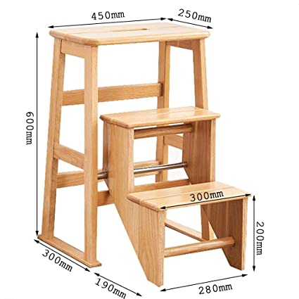 Peachy Amazon Com Home Wooden Household Folding Ladder Multi Machost Co Dining Chair Design Ideas Machostcouk