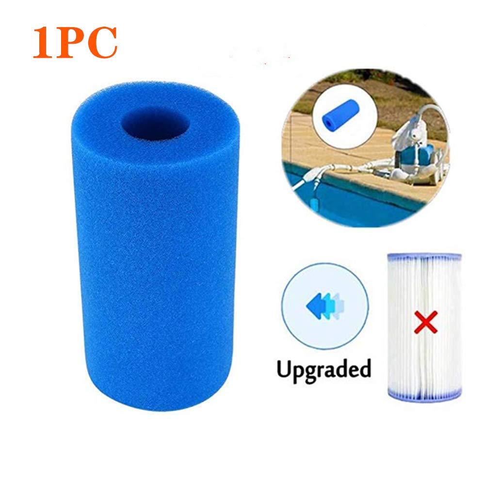 Yooger Pool Filter Cartridges Type a,Swimming Pool Filter 1PC Use for Intex Pool Filter for Intex Type A Reusable//Washable Swimming Pool Filter Foam Cartridge Sponge