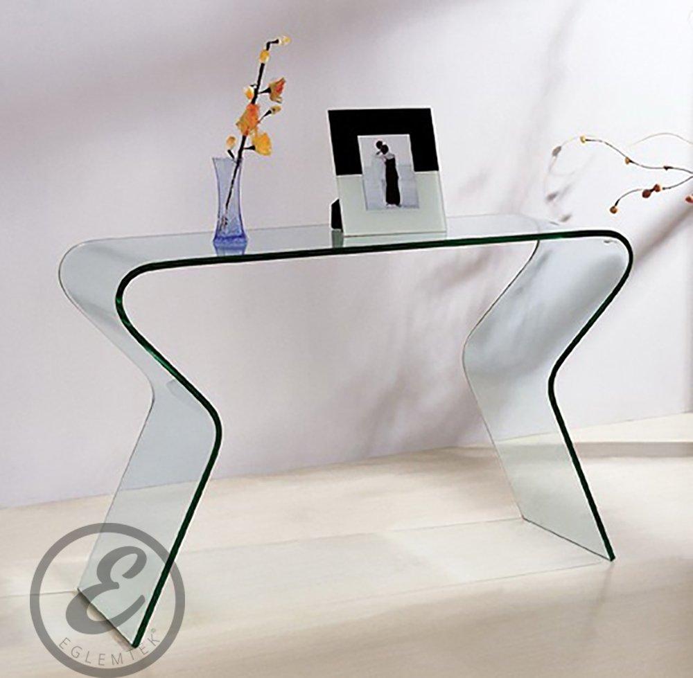 Consolle da salotto in Vetro curvato - Luxury Z-04 - 120 x 82 x 40 ...