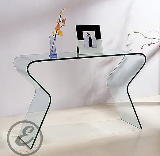 Opinioni per Consolle da salotto in Vetro curvato- Luxury Z-04-