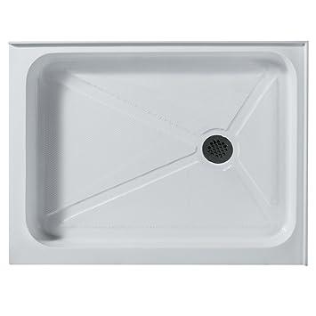 VIGO 36 X 48 In. Rectangular Shower Base Right Drain, White