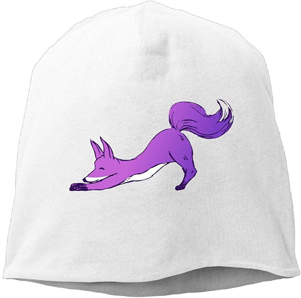 Janeither Headscarf Purple Cute Dog Hip-Hop Knitted Hat for Mens Womens Fashion Beanie Cap