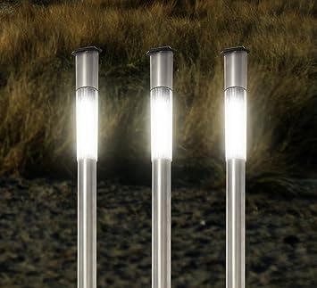 Edelstahl-Solar-Lampen 3er-Set