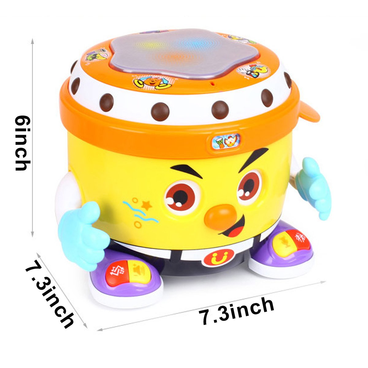 fe6f5477a Amazon.com  fisca Baby Musical Drum Toys