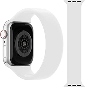iGK Sport Strap Compatible with Apple Watch Band 38mm 40mm 42mm 44mm, Soft Silicone Elastic Band Sport Bands Replacement Compatible for iWatch Series 6 5 4 3 2 1