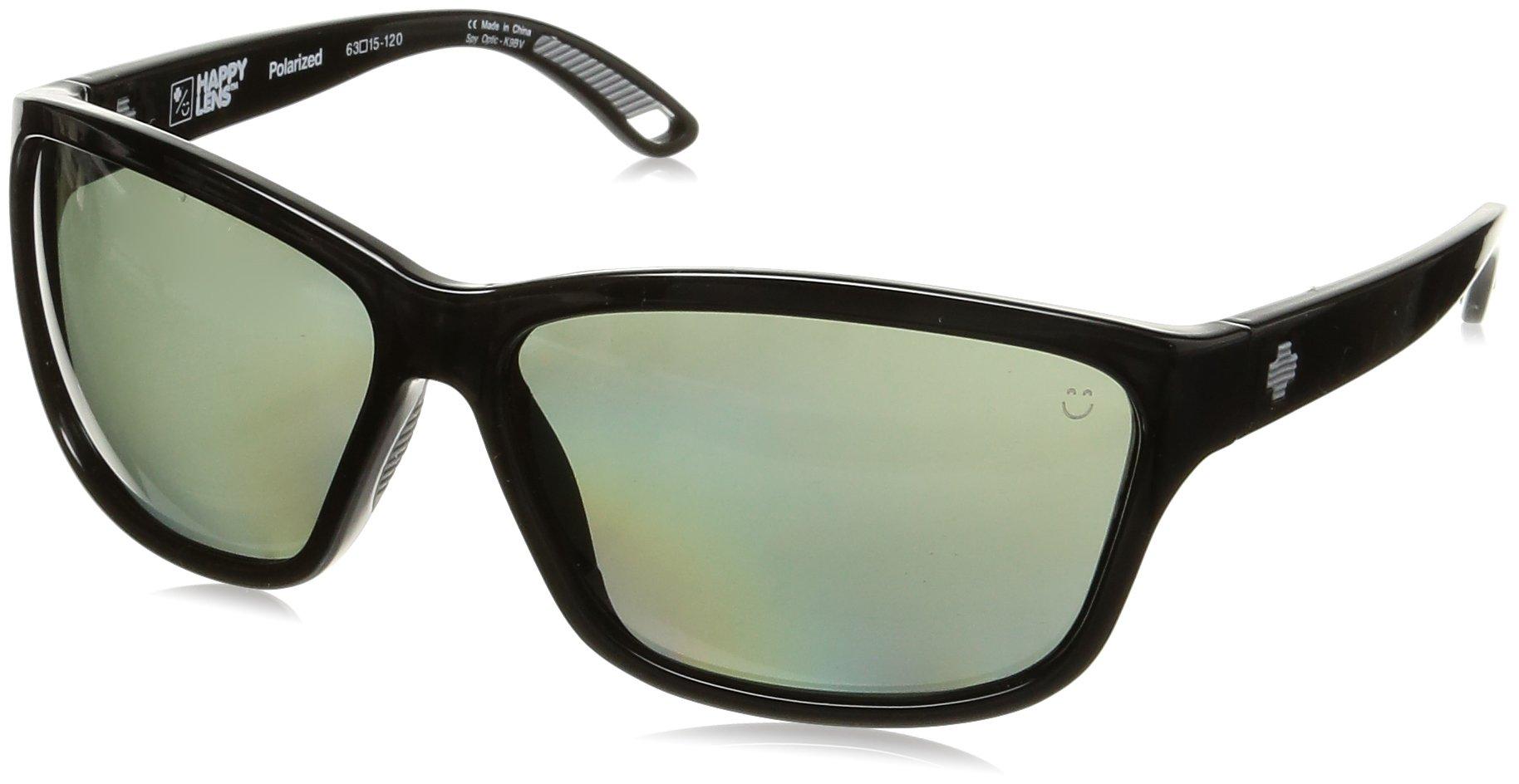 Spy Optic Allure Wrap Sunglasses, Black/Happy Gray/Green Polar, 63 mm