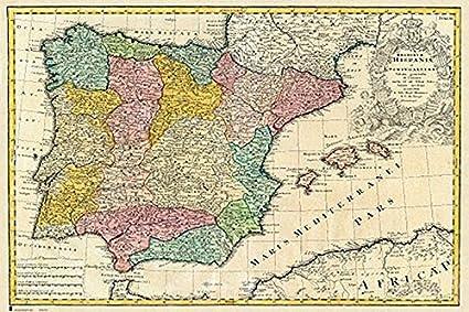 Grupo Erik Editores Poster Mapa España Antiguo - Deco: Amazon.es ...