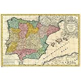 Close Up Póster Mapa Antiguo De España (91,5cm x 61cm): Amazon.es ...