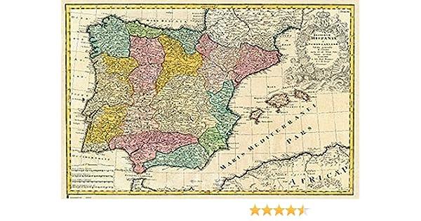 Grupo Erik Editores Poster Mapa España Antiguo - Deco: Amazon.es: Oficina y papelería