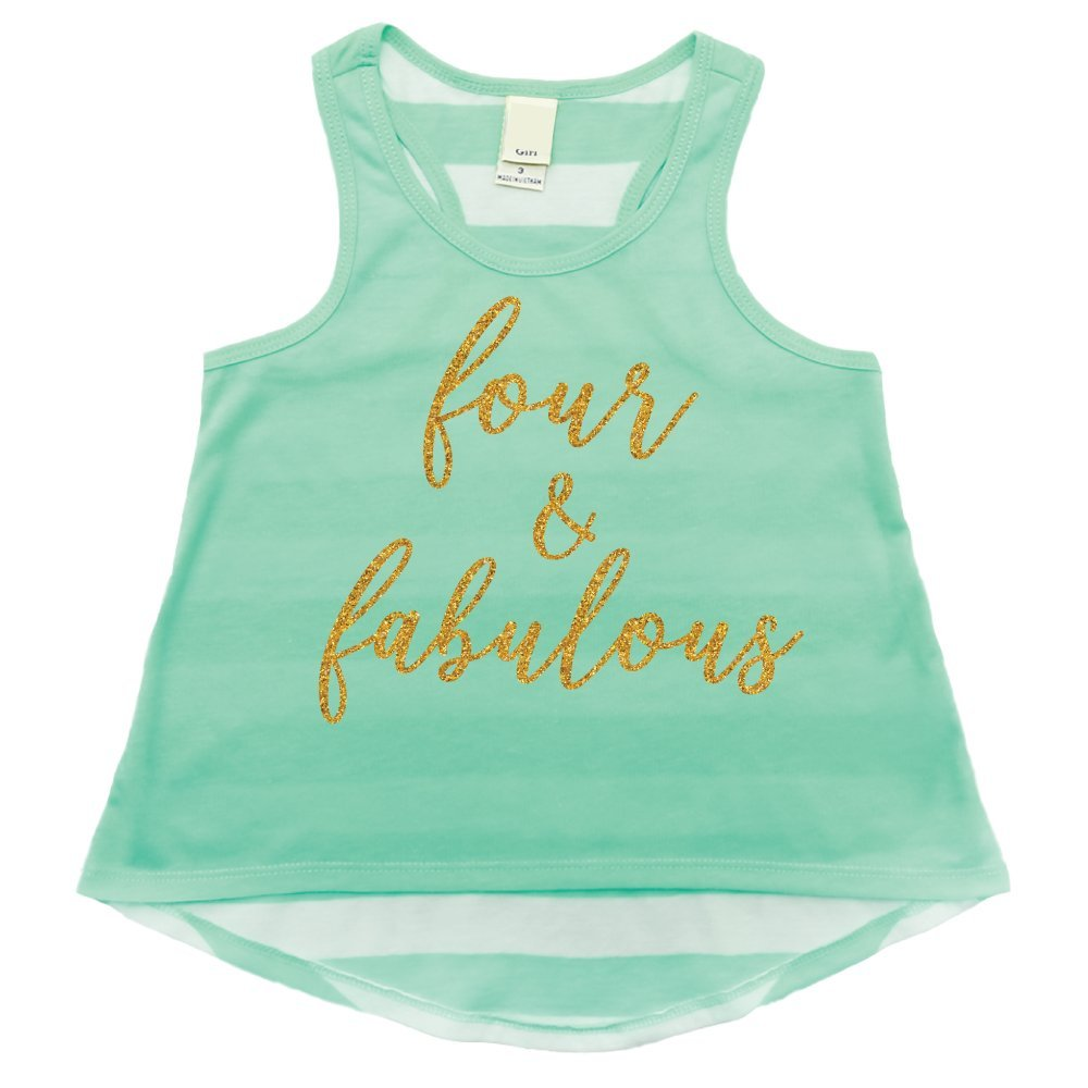 Bump and Beyond Designs Girl Fourth Birthday Outfit Fourth Birthday Shirt Four Year Old Tank Top
