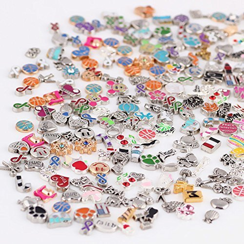 Wholesale 100pcs DIY Floating Charms for Lockets Living Memory Themes Varied ()