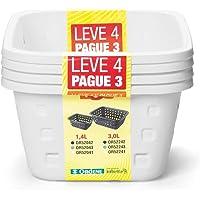 Cestos 1,4l P Leve4 Pague3 Branco - Pacote Com 4 Unidade(s) Ordene Branca