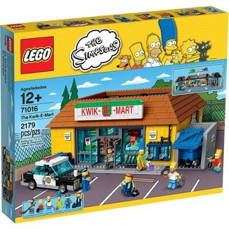 LEGO The Simpsons The Kwik-E-Mart, Well-Stocked Shelves, Removable Roof, Frozen Jasper, 6 Minifigures and Lots More (Kwik Shelf)