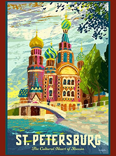 MAGNET St. Petersburg Russia Russian St. Basil's Cathedral Travel Advertisement ()