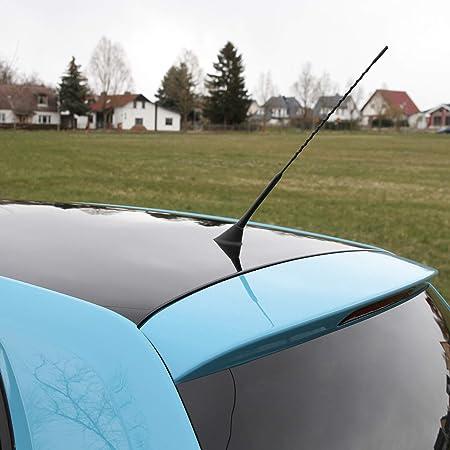 Alca Auto Antenne Lang 40cm Universal Dachantenne Radio Am Fm Schwarz Aus Fiberglas M5 M6 Adapter Set Auto