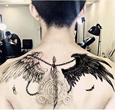 Tatuaje Alas Tatuaje Pegatinas Impermeable Ángel Demonio ...