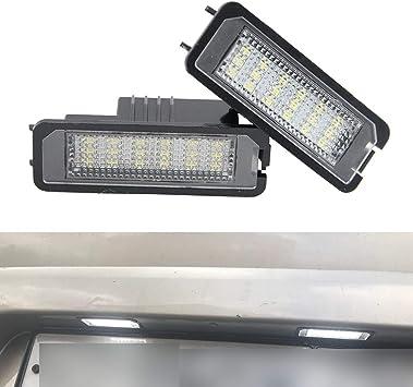 YUGUIYUN Luces de matrícula LED de iluminacion 18 LED SMD Error ...