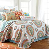 Mayla Full/Queen Quilt Set, Multi on White, Cotton