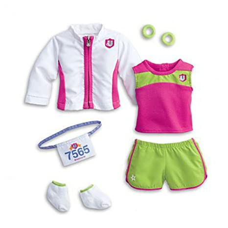 c49ff9cb336 Image Unavailable. Image not available for. Color: American Girl My AG 2 in  1 Track Outfit