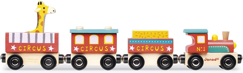 Janod-Circo Story Tren de Madera, multicolor (J08530)