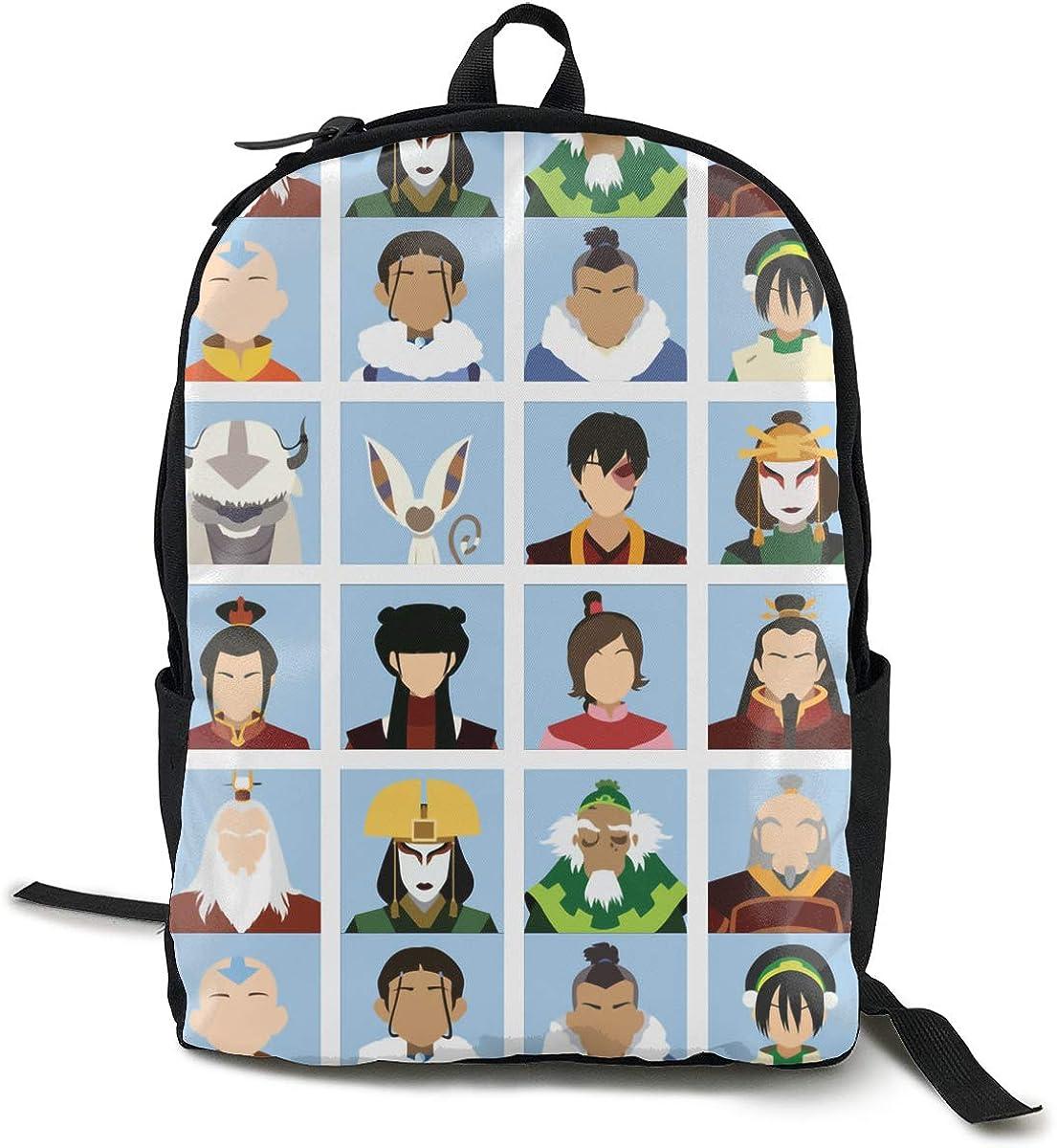 Classic Worlde Backpack Bag Avatar Last Air-ben-der Large Capacity Novelty Laptop Bag For Kids Women Men