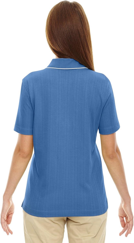 75045 Ash City Extreme Womens Edry Needle Out Interlock Polo -Lake Blue L