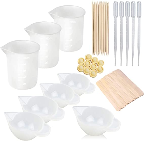 Silicone Measuring Cup Resin Glue DIY Tool Jewelry Make Hot P4N2