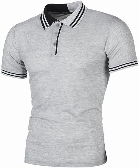 AG&T Polos Hombre Polo de Manga Corta Polo de algodón Camiseta de ...