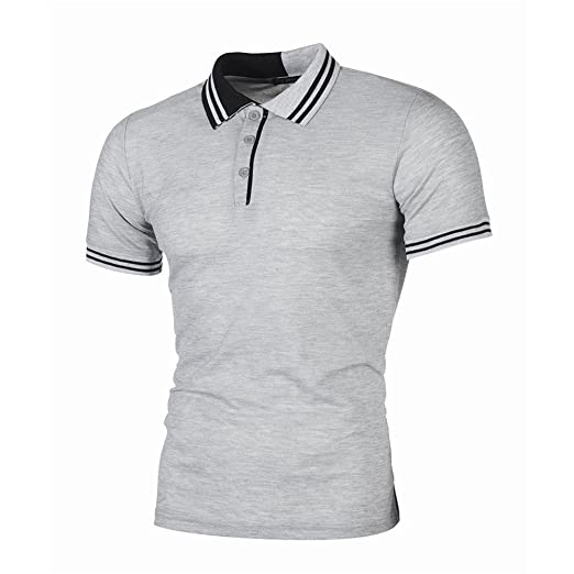 1eed4dc0757 Men's Regular-Fit Quick-Dry Golf Polo Shirt Performance Casual Slim ...
