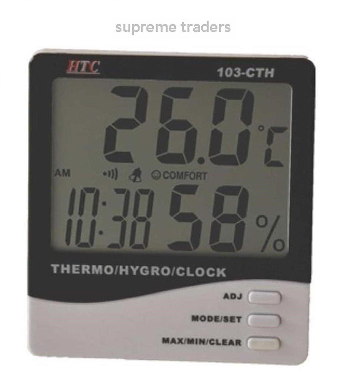 Tools Digital Lcd Wireless Thermometer Desktop Table Clock Temperature Meter Outdoor Indoor Measuring Tools Superior Performance Temperature Instruments