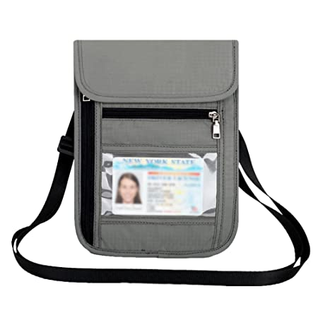Aimdonr Passport Neck Pouch Rfid Phone Covers Pouch With Snap Hook