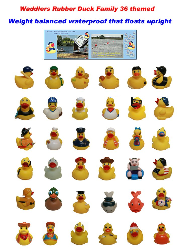 Hockey Rubber Ducks , Waddlers Brand, Bulk Pack 6,12,24,48,96 Pcs., Bath Rubber Toy Ducky Birthday Gift-all Depts. Hockey Player Deluxe Gift QTY (96) by Waddlers (Image #4)