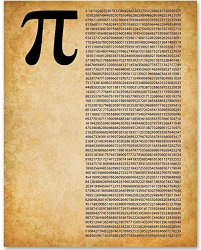 Pi - 11x14 Unframed Patent Print - Makes a Great Gift Under $15 for Math Lovers -