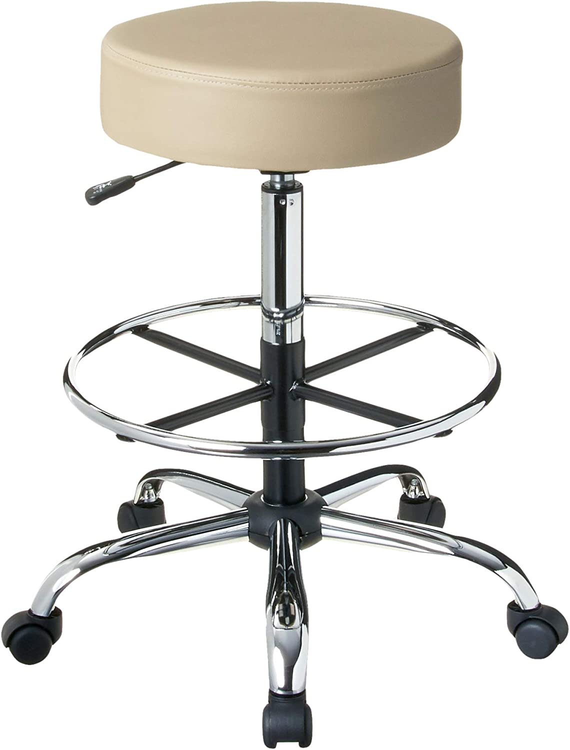 Boss Office Products Be Well Medical Spa Drafting Sool in Beige