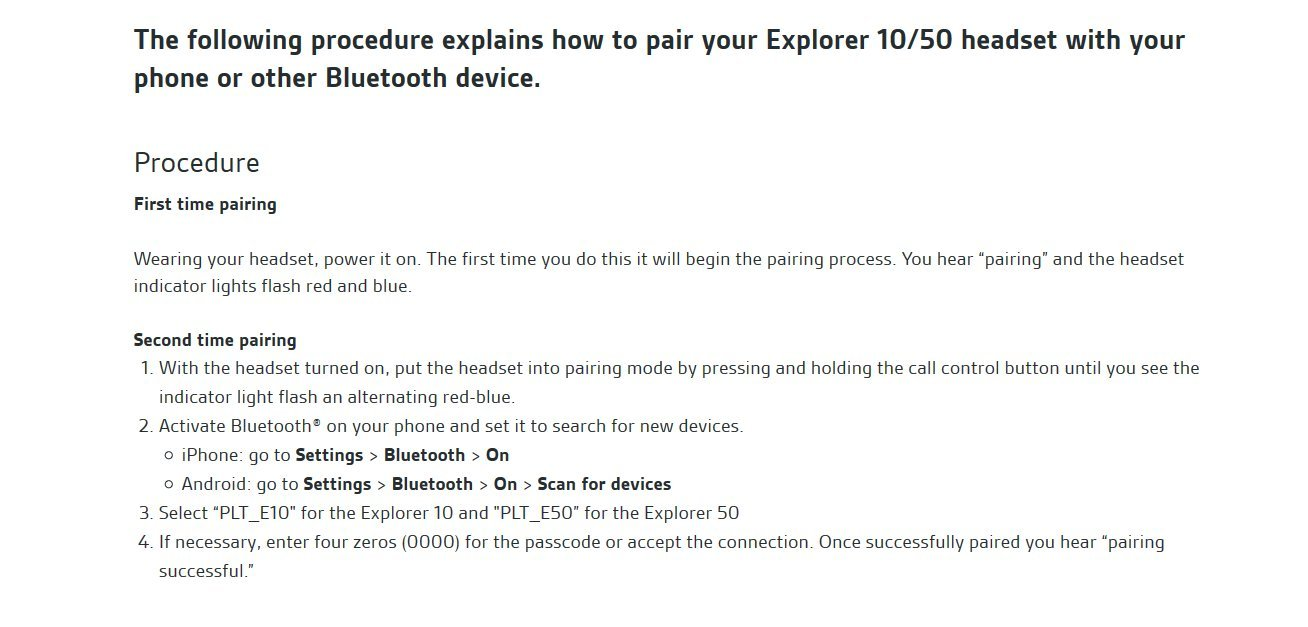 Nero//Antracite Plantronics Explorer 50 Auricolare Bluetooth Mono