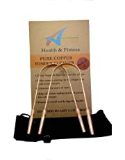 Premium Pure Copper Tongue Cleaners X 2 for Removal of Bad Breath, Bacteria & Toxins - Individually Numbered with Travel Pouch