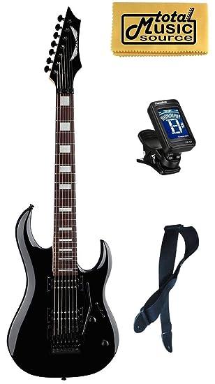Dean Guitars Michael Angelo Batio (7 cuerdas Guitarra eléctrica Negro Libre sintonizador correa gamuza: Amazon.es: Instrumentos musicales