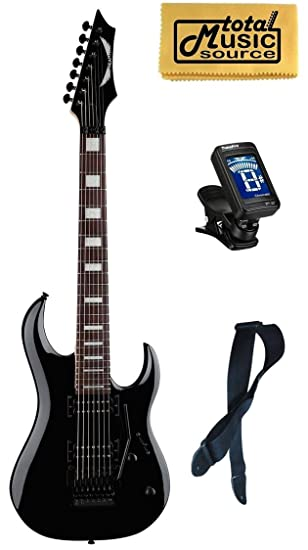 Dean Guitars Michael Angelo Batio (7 cuerdas Guitarra eléctrica Negro Libre sintonizador correa gamuza