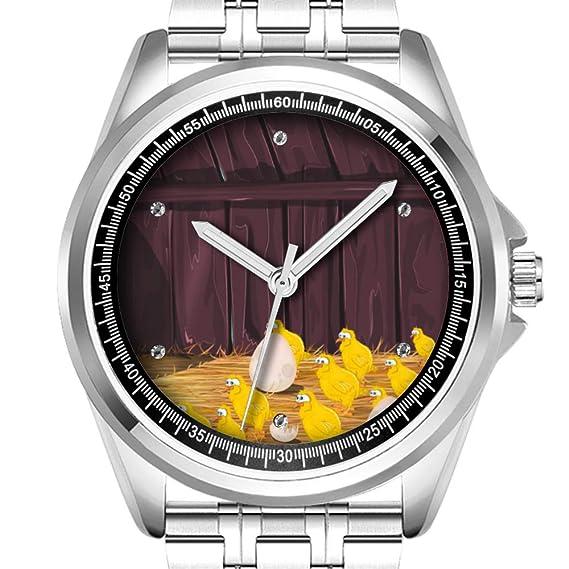 Reloj de Pulsera Personalizado para Hombre, a la Moda, Resistente al Agua, Diamante, 277, Dibujos Animados: Amazon.es: Relojes