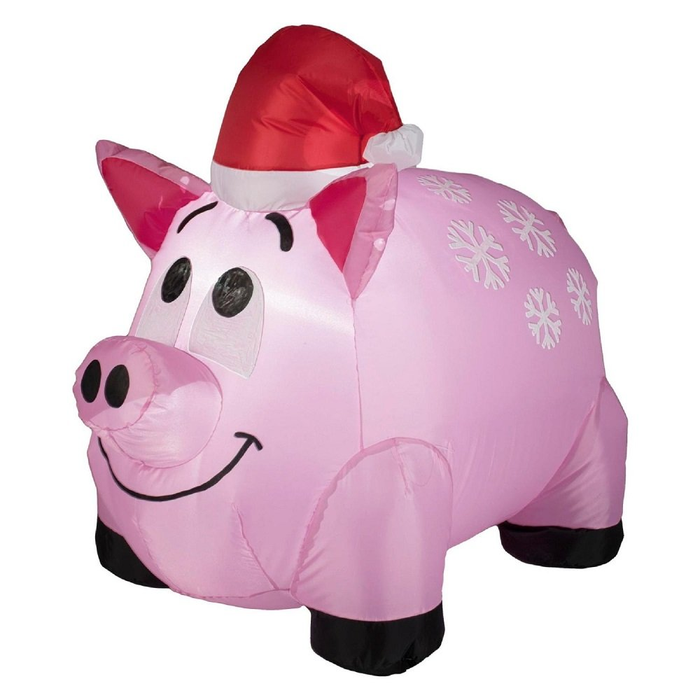 amazoncom trim a home airblown pig lawn decoration 4 christmas inflatable garden outdoor - Pig Christmas Decorations Outdoors