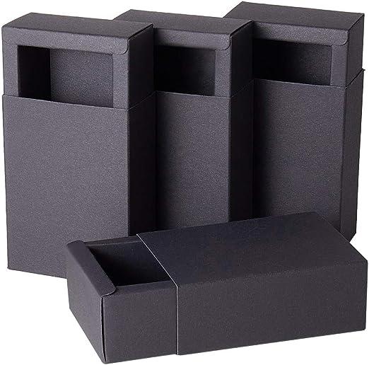 BENECREAT 20 Pack Caja de Caja de Cartón Kraft Cajas de Regalo para Fiesta Superior Envase de Joyería - Negro 11.2x8.2x4.2cm: Amazon.es: Juguetes y juegos