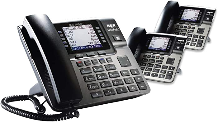 RCA Unison DECT 6.0 Phone System with One Base Station and Two Wireless Deskphones