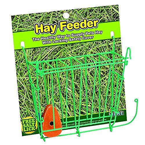 Guinea Pig Litters - Ware Manufacturing Hay Feeder with Free Salt Lick, 1 Pack