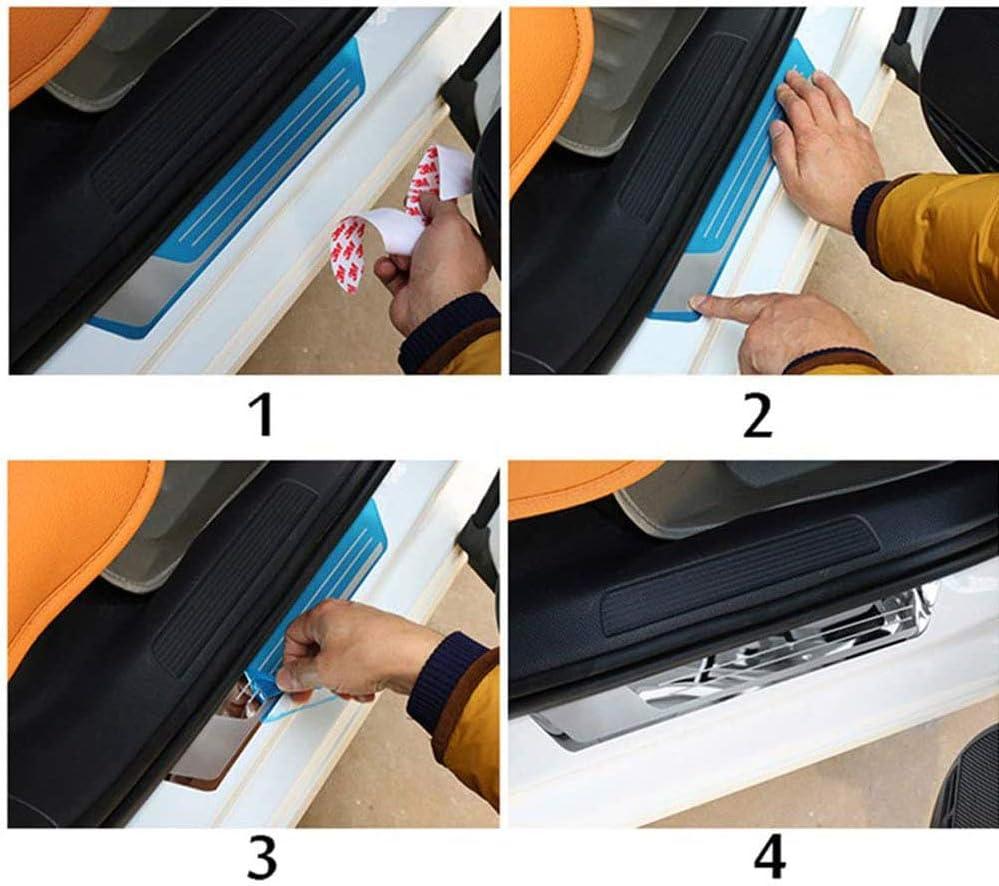 F/üR Nissan Qashqai J11 2018 2019 2020 rutschfeste Anti-Kratz Schutzleiste Dekoratives Zubeh/öR ZQXFZ 4 St/üCk Edelstahl Einstiegsleiste Trittplatte