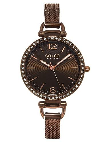 SO & CO New York Reloj analógico para Mujer de Cuarzo con Correa en Acero Inoxidable