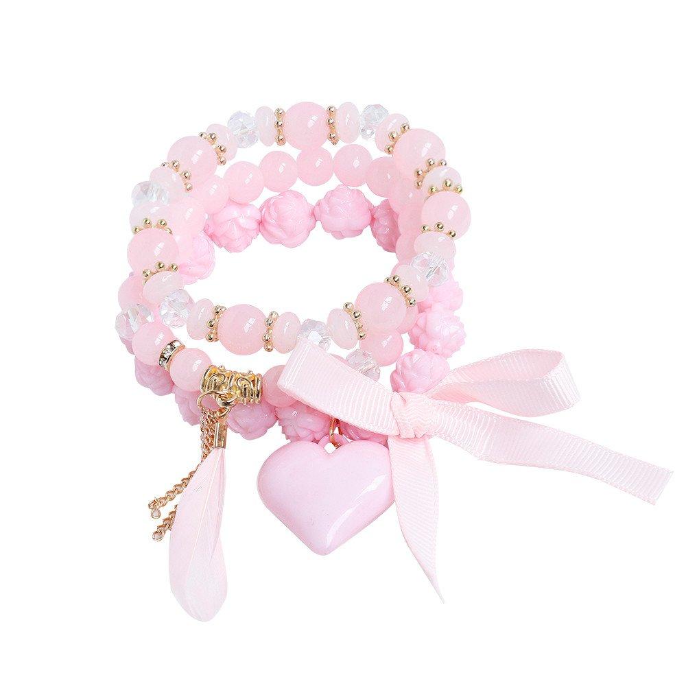 Dream_Mimi 1Set Blue Prayer Beads Bracelet for Men Women Elastic Natural Stone Bracelet Bangle