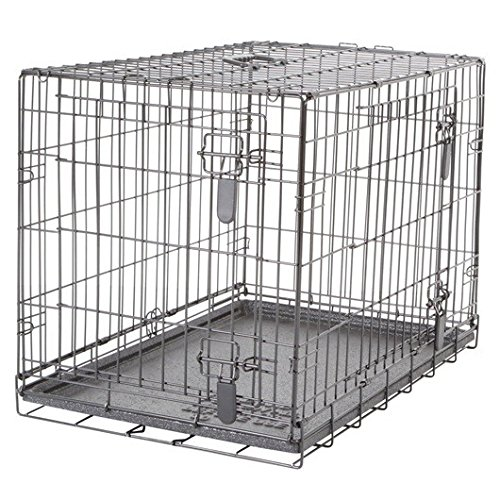 Medium Dogit Two Door Wire Home Crates with Divider-Medium-77 X 48 X 54.5cm (30 X 19 X 21.5-Inch)