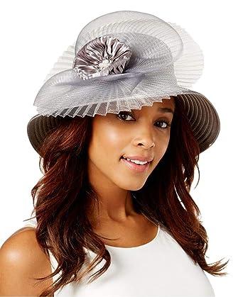 August Hat Company Women s Satin Stripe Wide-Brim Dressy Hat 0b1f4e56ac2