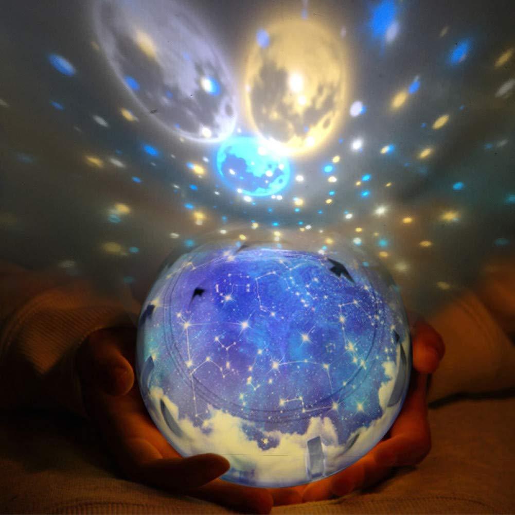 Dgnxyd Nachtlicht Led Nachtlicht Sternenhimmel Magie Stern Mond Planet Projektor Lampe Baby Kindergarten Licht Für Geburtstagsgeschenk Baby